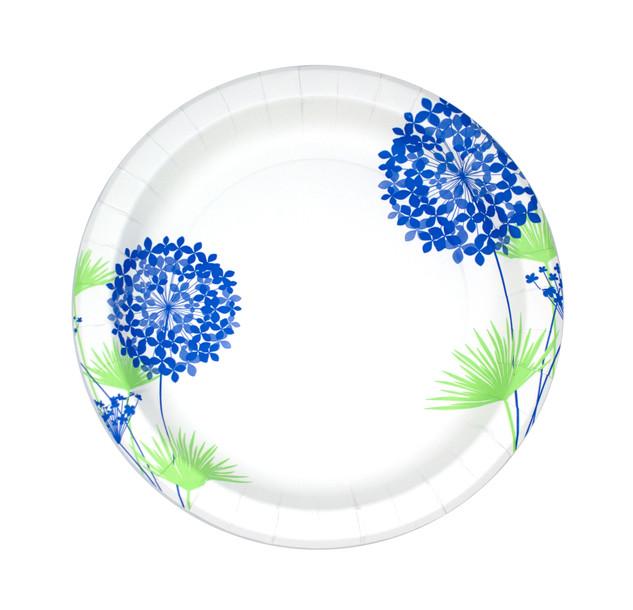 Blue Hydrangea Plate Design