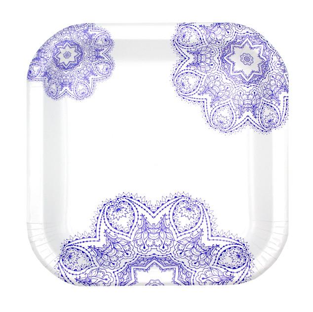 Purple Victorian Plate Design