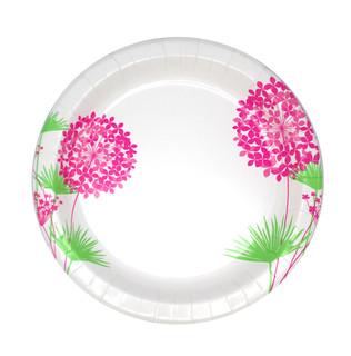 Pink Hydrangea Plate Design