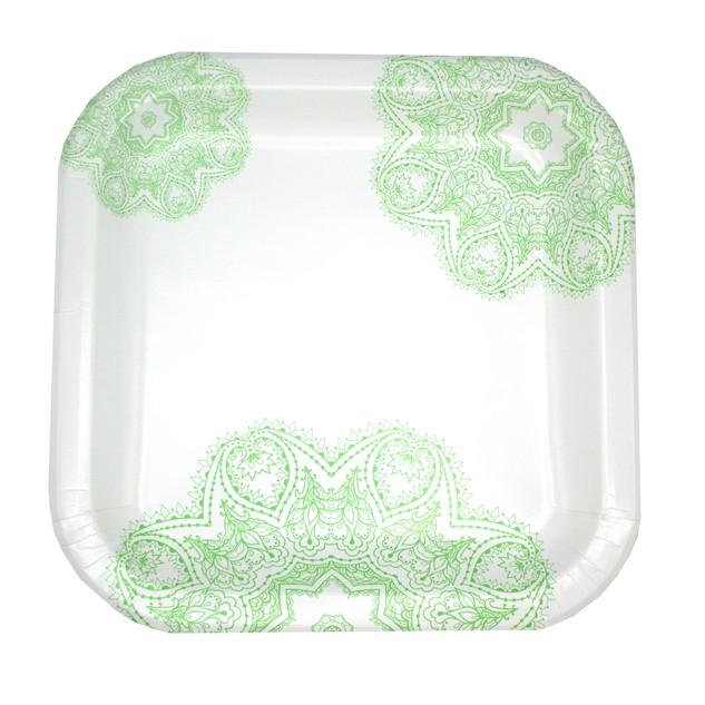 Green Victorian Plate Design