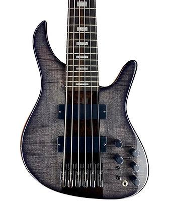 D'Mark Alpha Bass 6 String - Flamed Maple Black Burst