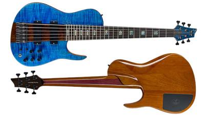dmark guitars omega bass flamed maple blue mahogany.jpeg