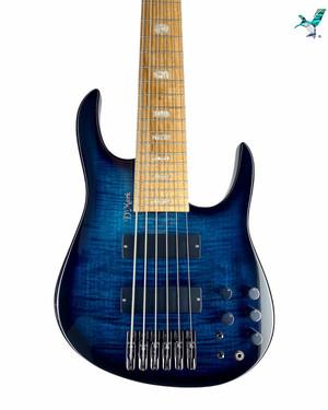 Available! New D'Mark Bass Fusion 6 Flamed Maple Blue Black Burst