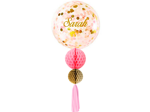 Jumbo Confetti Helium Personalised With Decoration