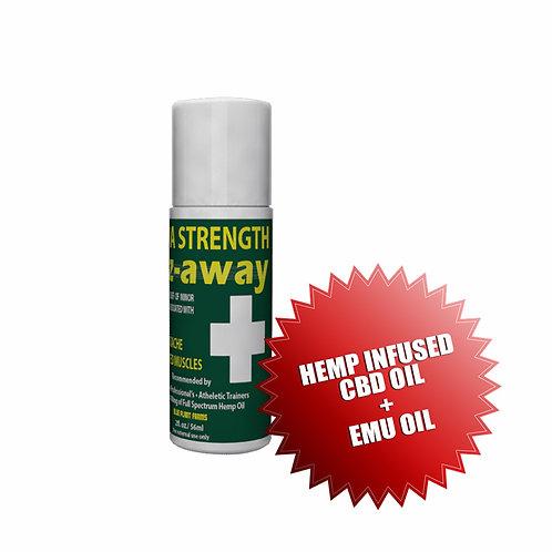 EEZAWAY 3 Ounce Extra Strength Roll On Bottle (w/Hemp Infused Oil & Emu Oil)