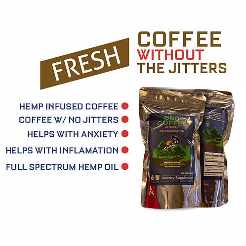 Coffee Millenial Blend w/25gm Full Spectrum Hemp Oil