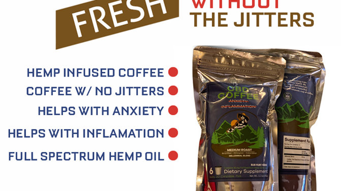 Coffee Millenial Blend w/25gm Full Spectrum Hemp Oil