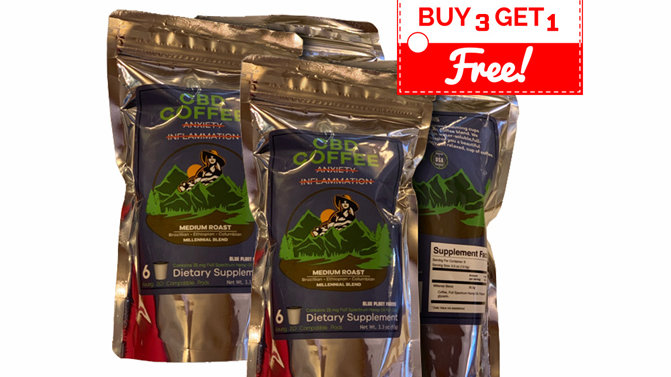Coffee [BUY 3 GET 1 FREE] Millenial Blend w/25gm Full Spectrum Hemp Oil