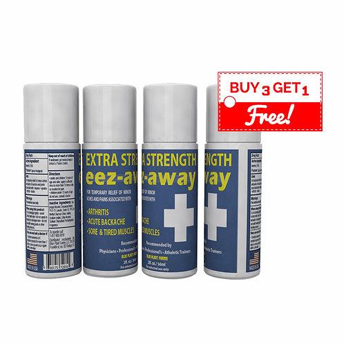 EEZAWAY [BUY 3 GET 1 FREE] 3 Ounce Regular Strength Roll On Bottle (w/Emu Oil)