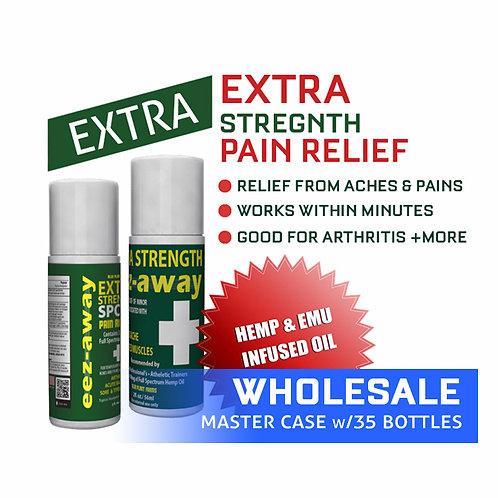 WHOLESALE | EEZAWAY 3 Ounce Extra Strength Roll On Bottle (w/Hemp Infused Oil &