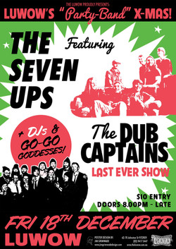 The Seven Ups gig poster