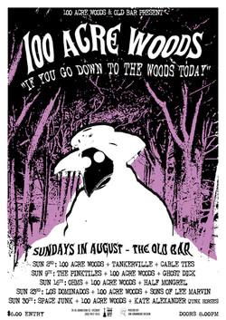 100 Acre Woods tour poster