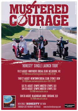Mustered Courage tour poster