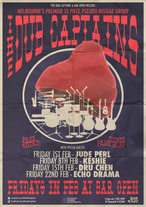 The Dub Captains tour poster