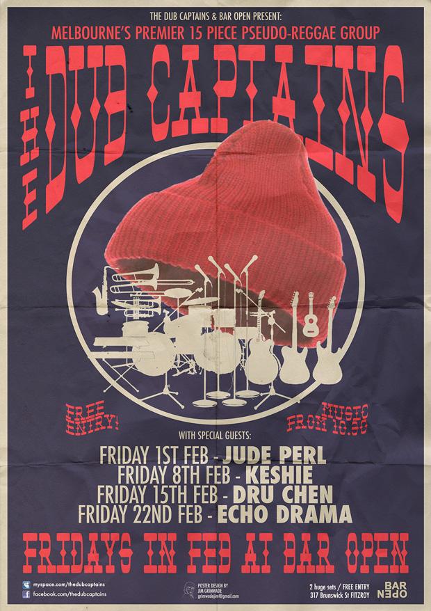The Dub Captains tour poster