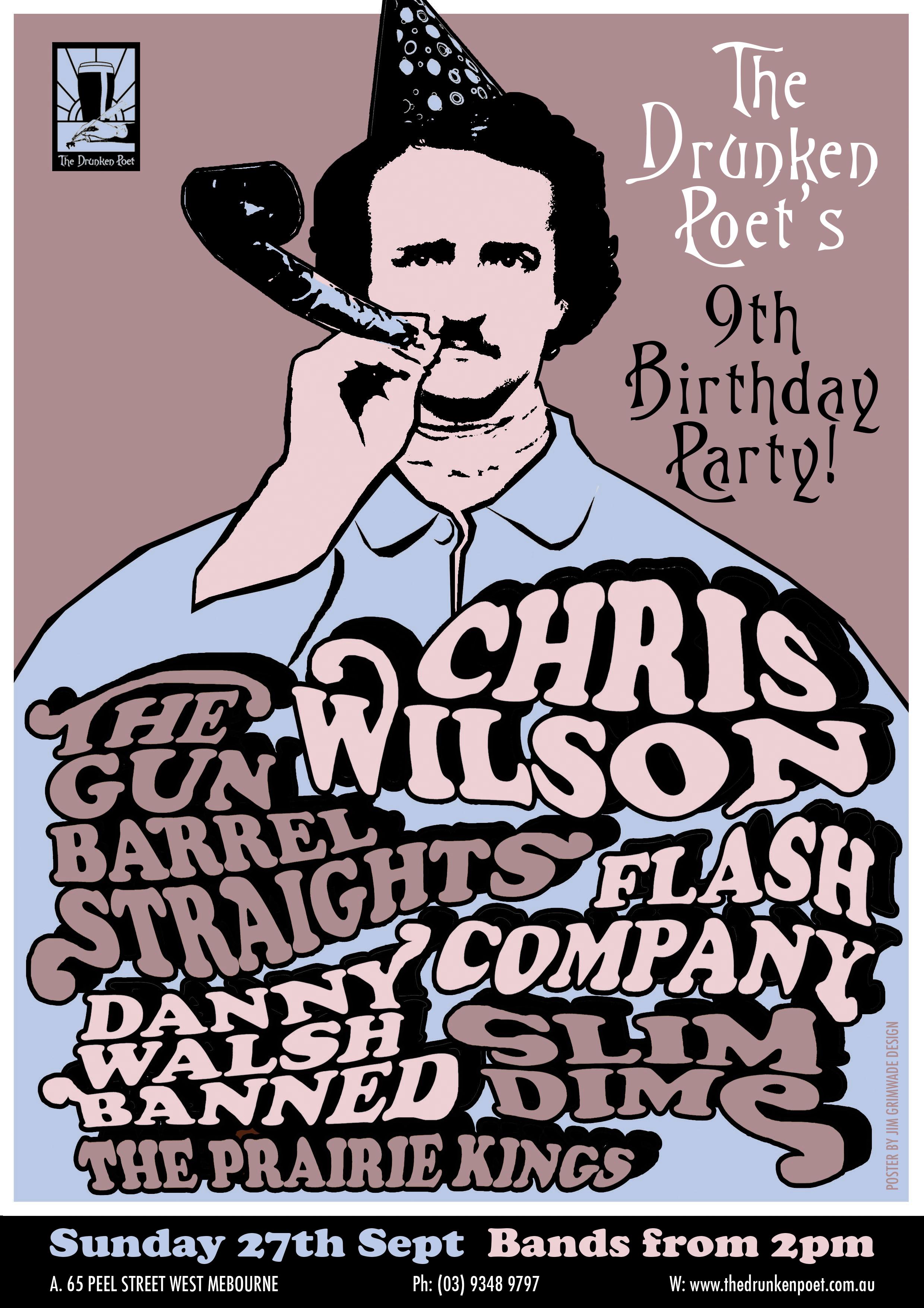 Chris Wilson gig poster