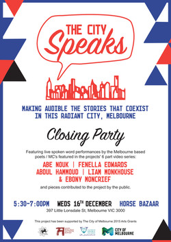 The City Speaks poster