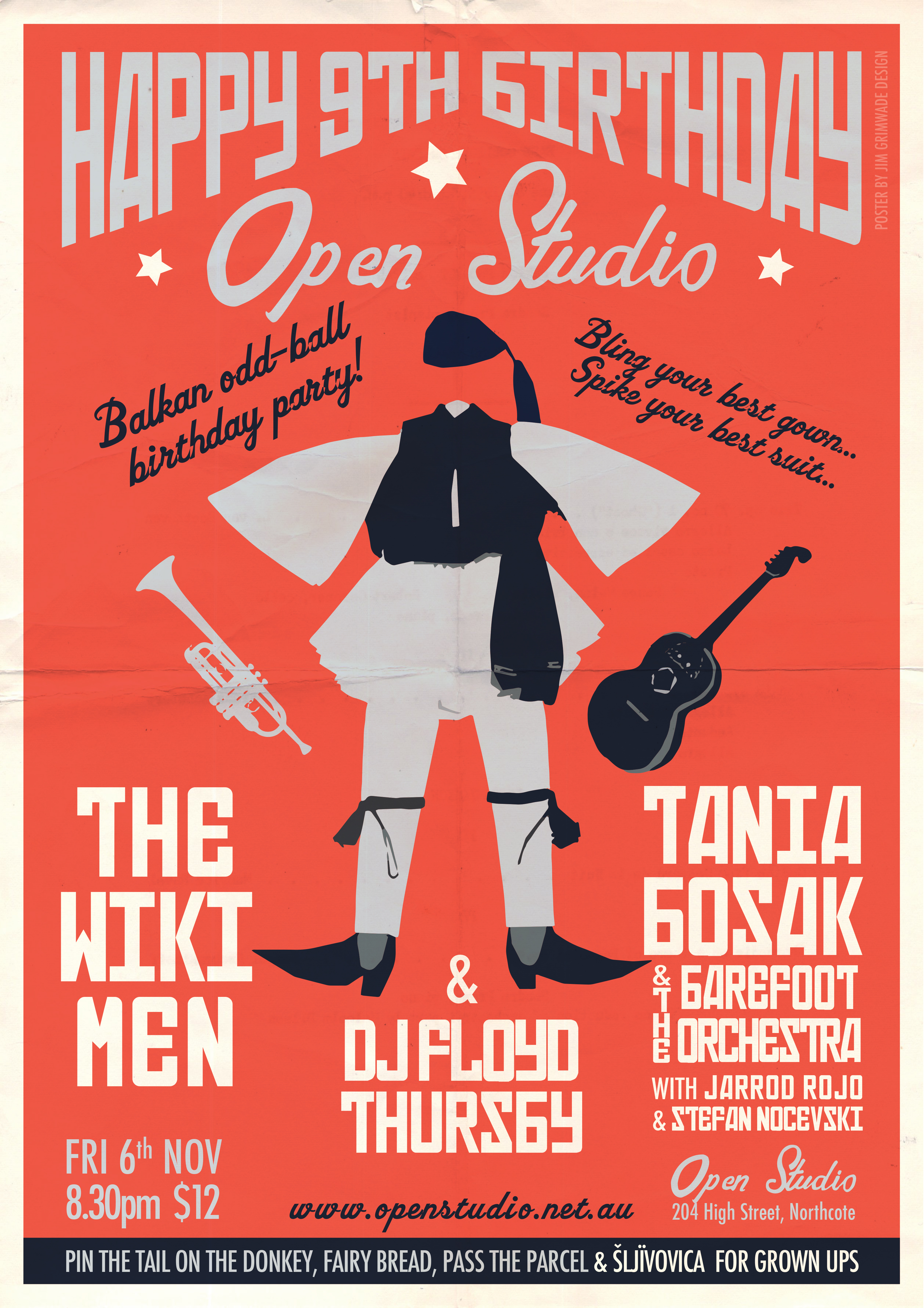 Open Studio gig poster