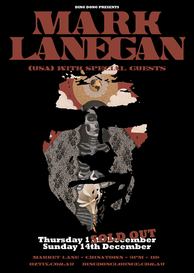 Mark Lanegan gig poster