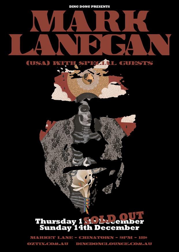 Mark Lanegan gig poster