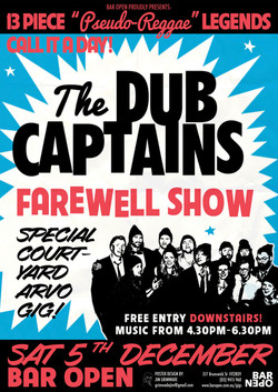 The Dub Captains gig poster