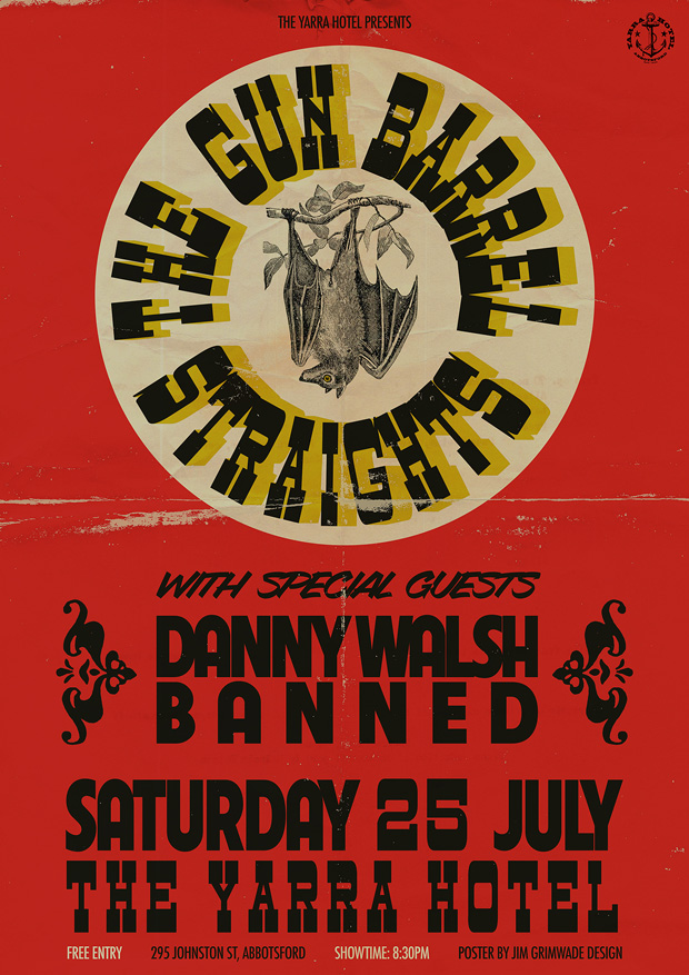 The Gun Barrel Straights gig poster