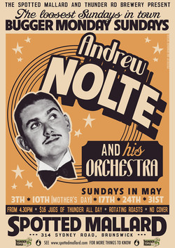 Andrew Nolte tour poster