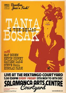 Tania Bosak & The Beijao gig poster