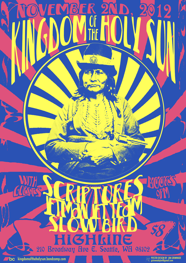 Kingdom Of The Holy Sun gig poster
