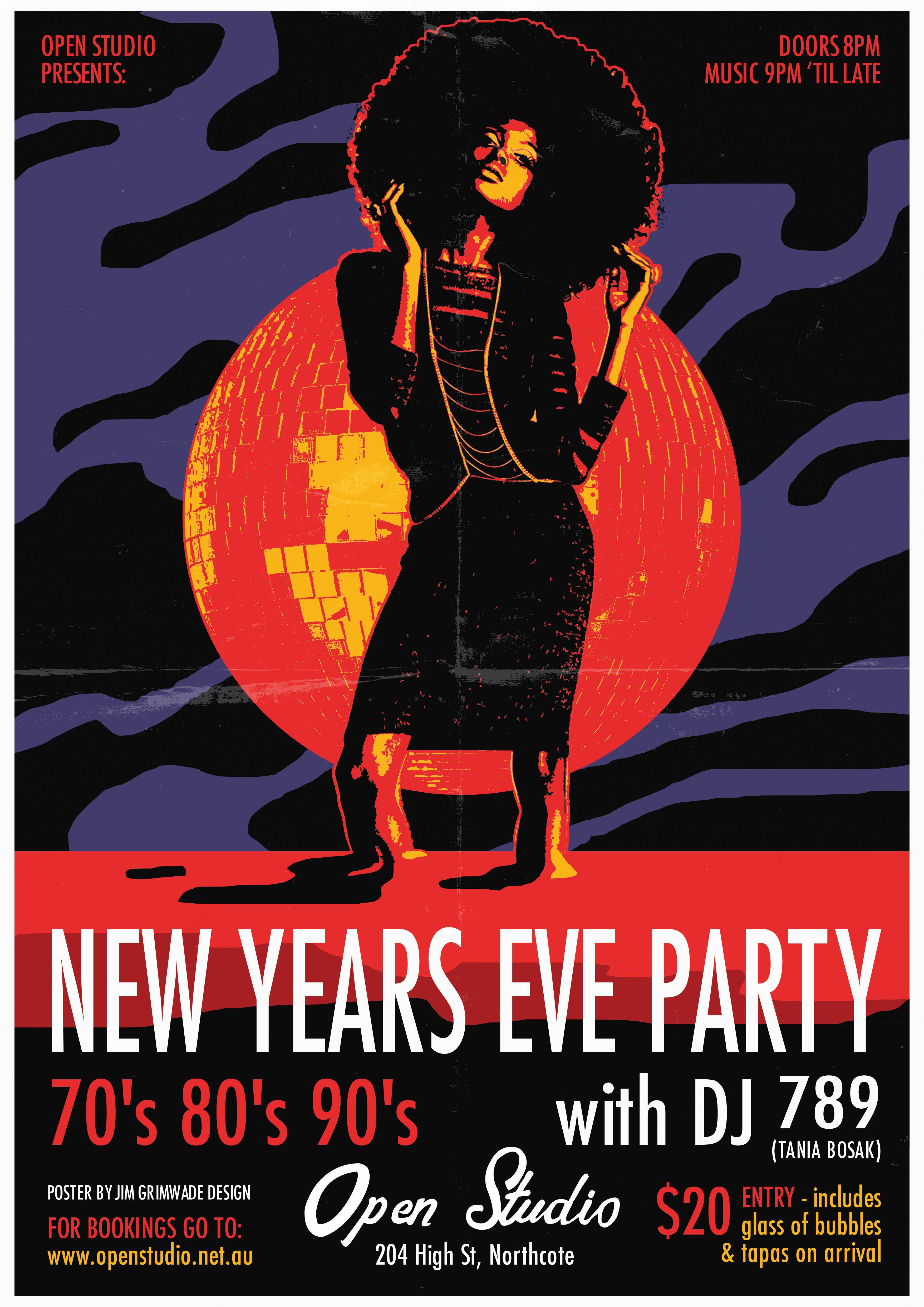 Open Studio NYE poster