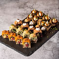 degustación sushi Roots & Rolls Vegan He