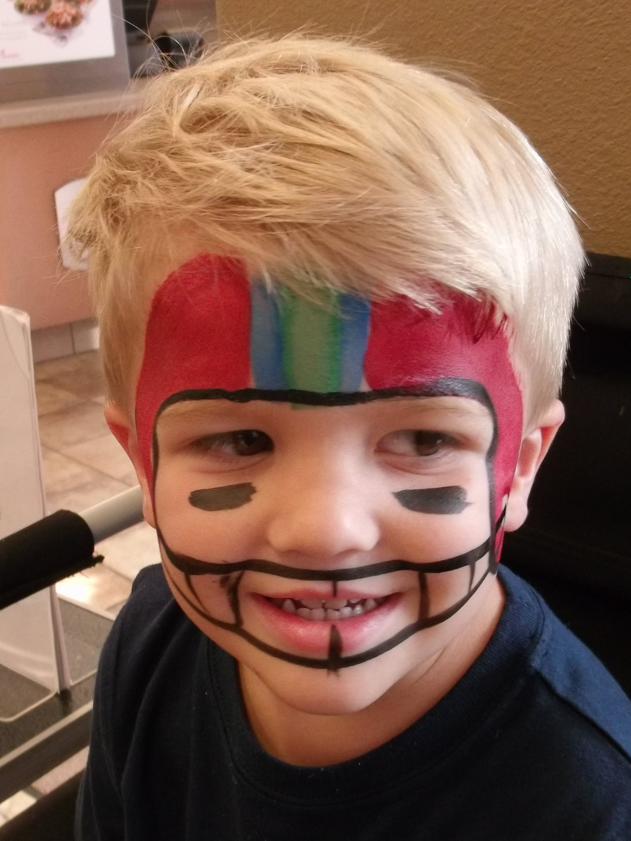American Football Lovers Football Players Face Paint Ideas