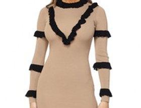 """The """"Lisa"""" Ruffle Sweater Dress"""