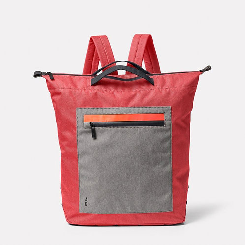 Ally Capellino Hoy Travel and Cycle Backpack,  Red & Drizzle