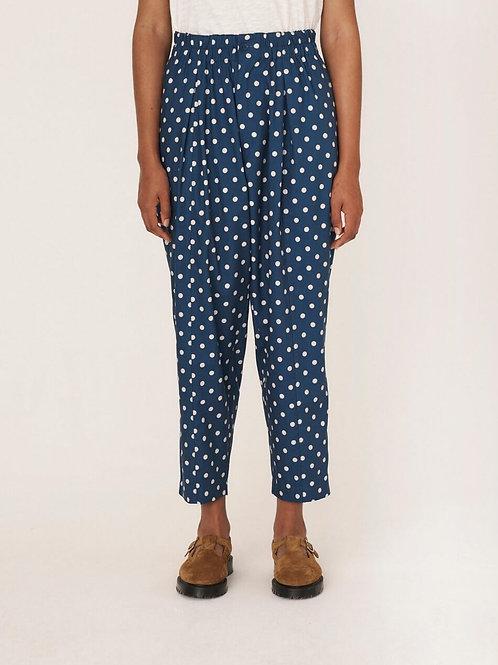 YMC, Sylvian Rayon Cotton Dot Print Trousers