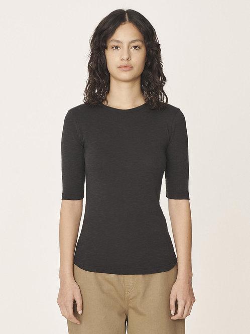 YMC, YMC, Charlotte Organic Rib Cotton Slub T-Shirt, Black