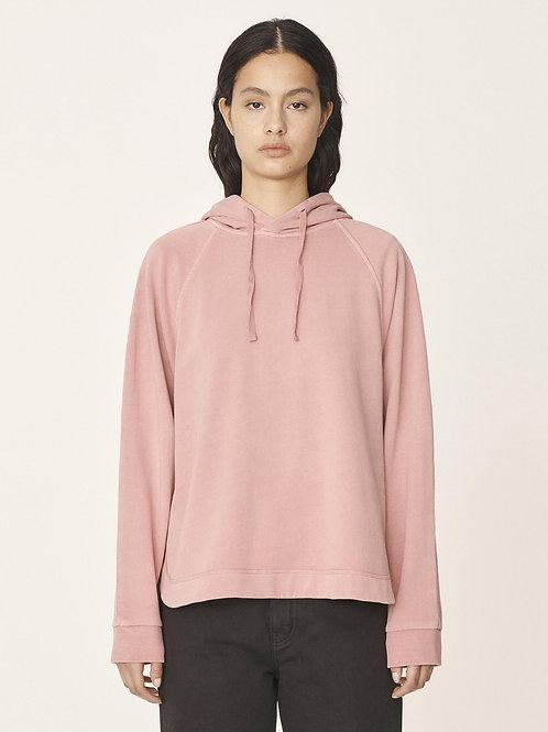 YMC, Big Cotton Loopback Hoodie, Pink
