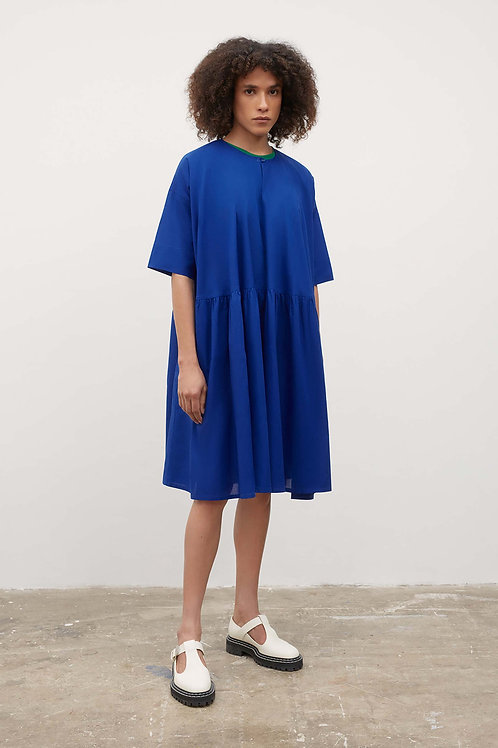 Kowtow Sketchbook Dress, Cyan
