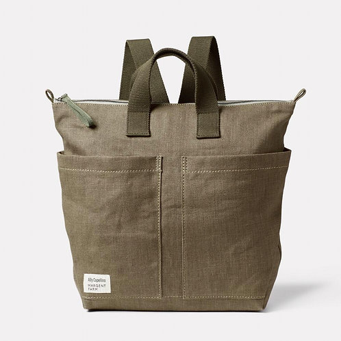 Ally Capellino X Margent Farm Hemp Backpack,  Khaki