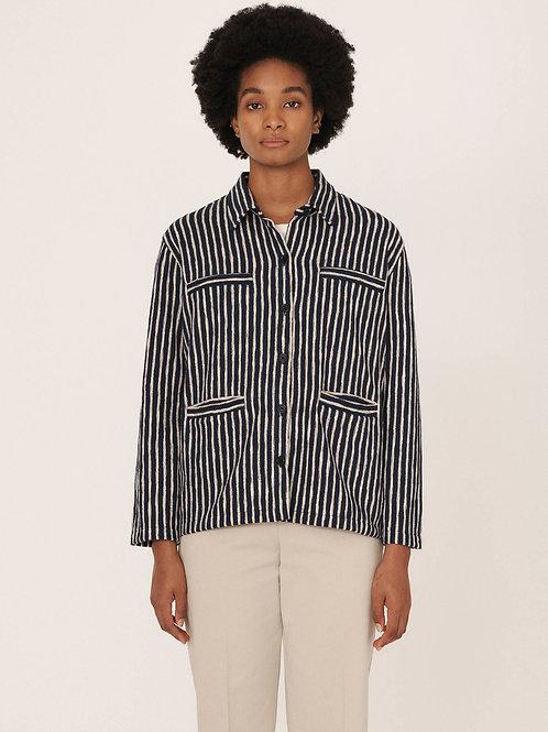 YMC, The Pool Cotton Shirt, Navy Ecru
