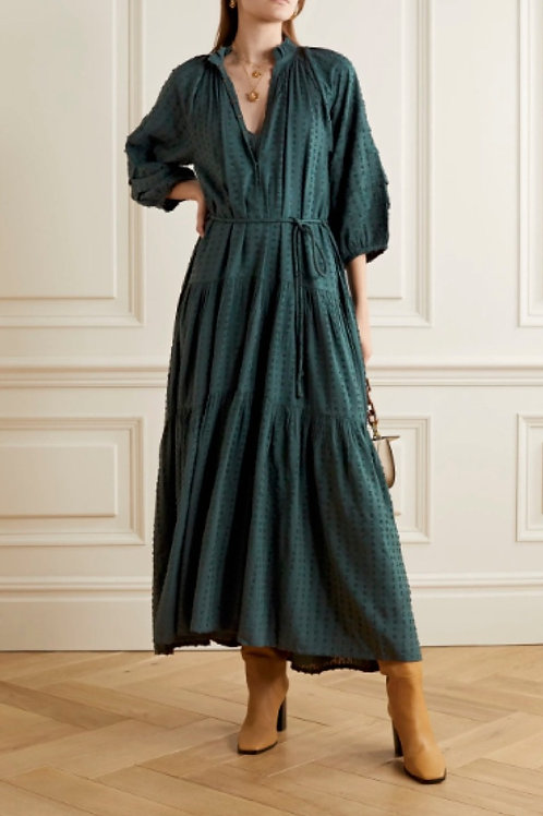 Apiece Apart Trinidad Dress, Malard green