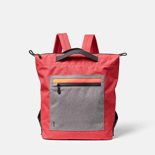 Ally Capellino Mini Hoy Travel and Cycle Backpack in Red & Drizzle