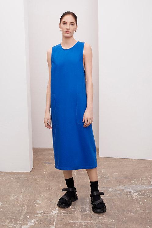 Kowtow Eames Dress, workwear blue