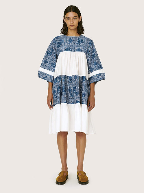 YMC Petite Paloma Organic Cotton Dress, Blue White