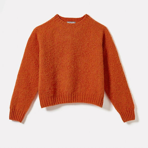 Ally Capellino Cropped Lambswool Jumper in Rust
