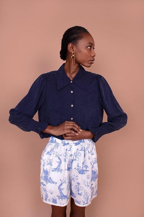 Meadows, Mimosa Shirt, Navy