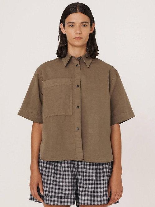 YMC, Eva Cotton Linen Shirt, Olive