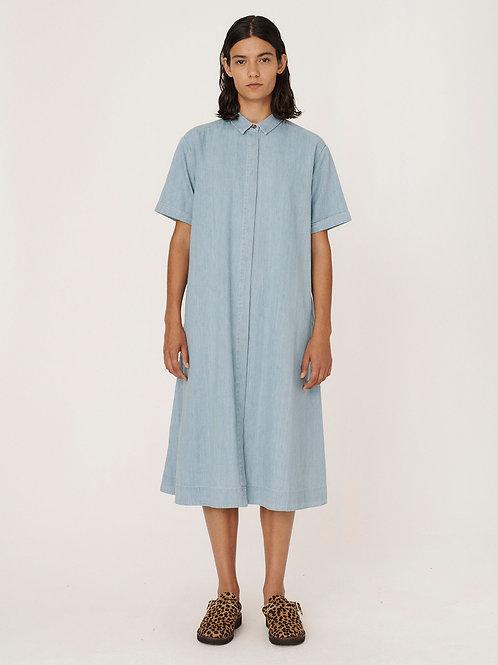 YMC, Joan Lightweight Denim Dress, Bleached Indigo