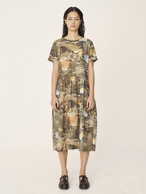 YMC, Perhacs Cotton Silk Landscape Dress, Multi