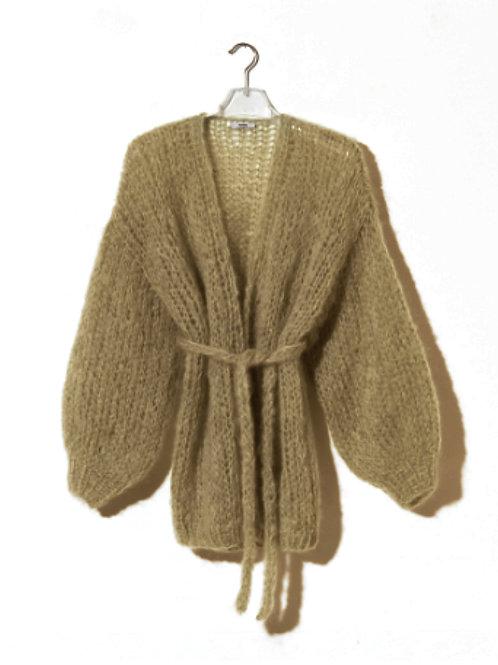 Maiami Oversized V-neck Cardigan, brown